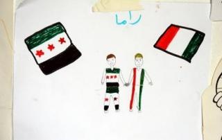 Siriani in fuga, come li dipingono i bambini
