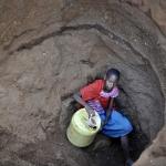 Pozzo Samburu in Kenia per cercare Acqua pulita