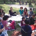 Linklaters con i Bambini di Varcare la Soglia al parco per il PicNic