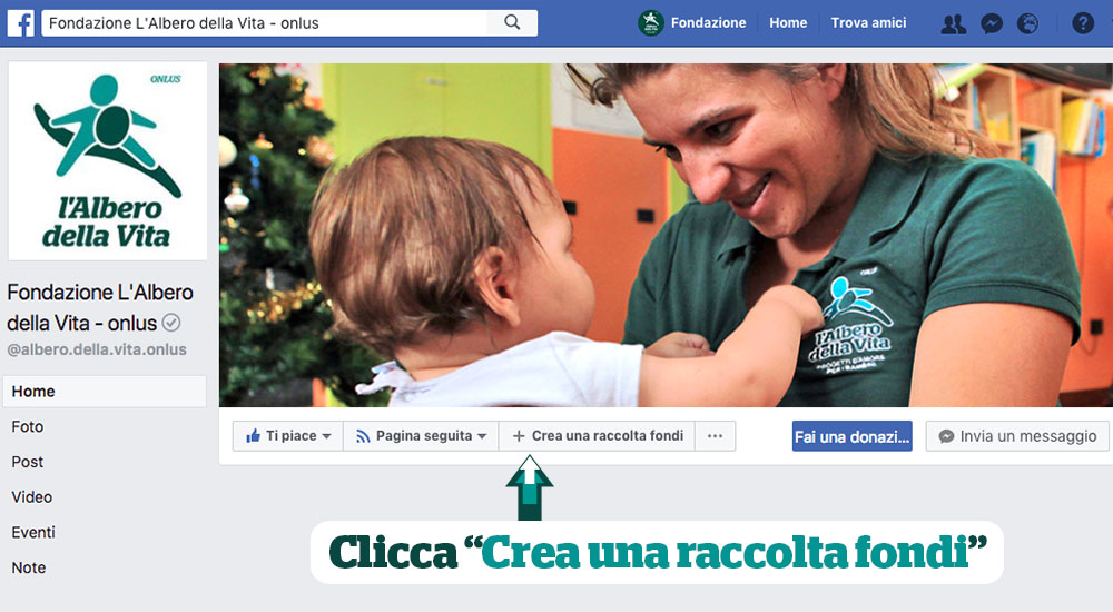 Crea una raccolta fondi su Facebook
