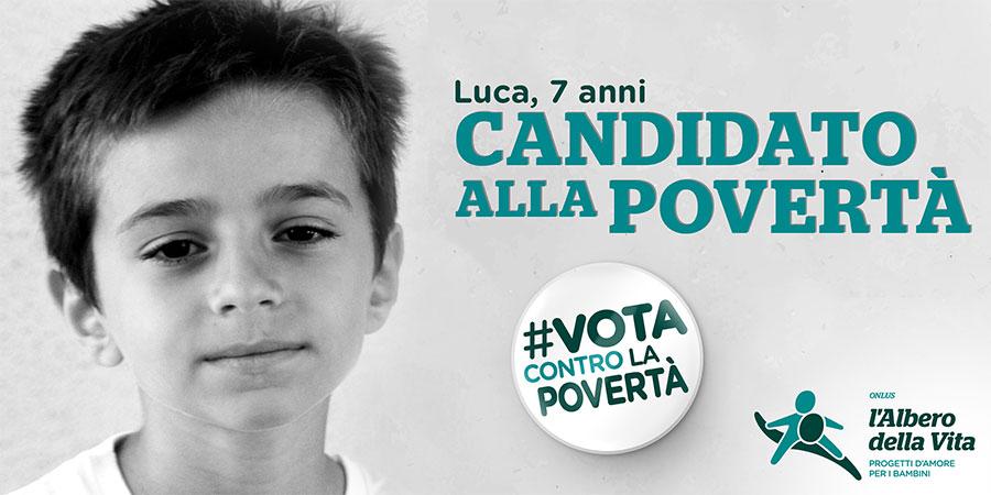 Vota contro la povertà Luca campagna Albero della Vita