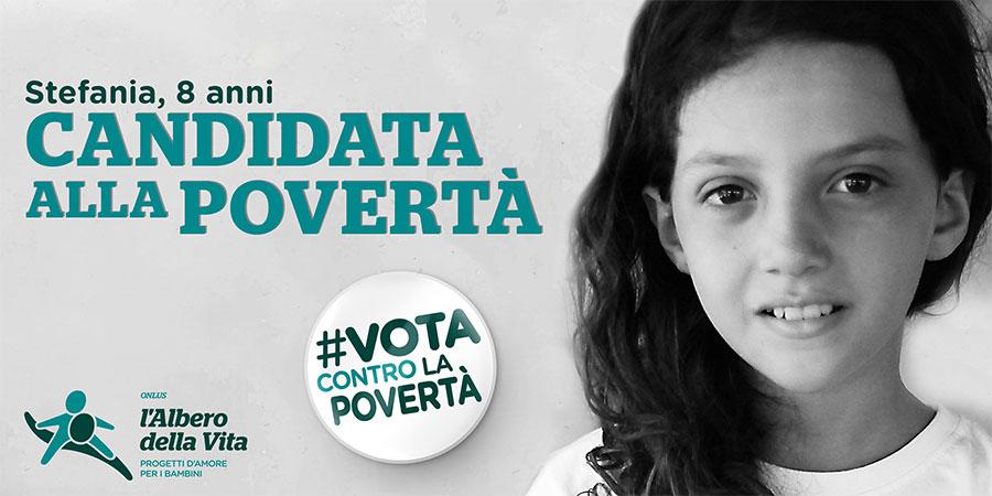 Vota contro la povertà Stefania campagna Albero della Vita