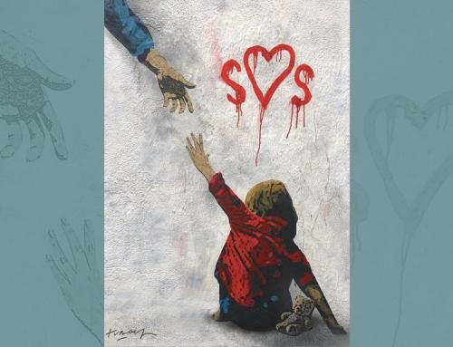 SOS: Tvboy dedica la sua ultima opera ai bambini che vivono in povertà