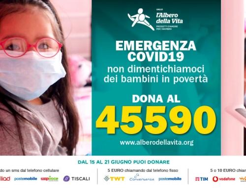 SMS solidale Emergenza Covid-19 – Non dimentichiamoci dei bambini in povertà – Dona al 45590