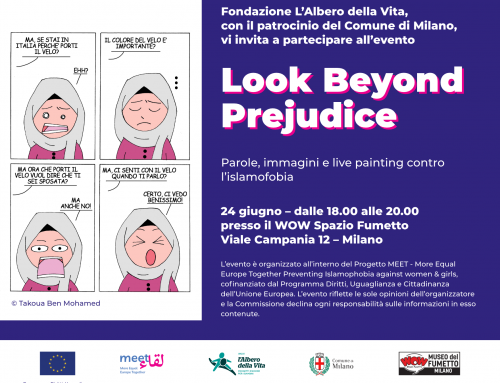 Look Beyond Prejudice: Parole, immagini e live painting contro l'islamofobia