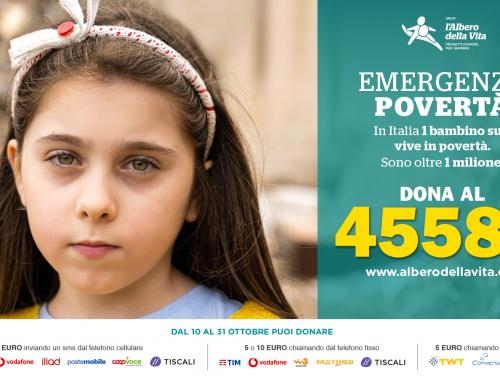 Dona al 45582 per le famiglie in poverta in italia